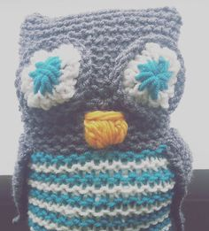 Loomed owl toy by @wanderlaut
