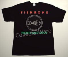 FISHBONE Truth and Soul CUSTOM ART UNIQUE T-SHIRT  Each T-shirt is individually hand-painted, a true and unique work of art indeed!  To order this, or design your own custom T-shirt, please contact us at info@collectorware.com, or visit  http://www.collectorware.com/tees-fishbone.htm