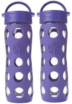 2-Pack Lifefactory 16-Ounce Beverage Bottles (Royal Purple). This is a bundle that includes one 16 ounce glass bottle with classic cap in Raspberry and one 16 ounce glass bottle with classic cap in Royal Purple. Lifefactory creates innovative, non-toxic products that make it easy to lead a healthy and eco-conscious lifestyle. They fuse modern sensibility and composition, also exceptional utility to produce a glass beverage bottle that is free of known harmful chemicals such as BPA…