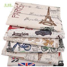 Souarts 1pcs Cotton Linen Craft Fabric Bundle Patchwork Tissue DIY Sewing Scrapbooking Quilting