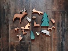 I grew up living on a farm. My dad owned his own business and had a hobby farm on the side on his land. My childhood was filled with more a. Wood Animal, Waldorf Toys, Scroll Saw Patterns, Montessori Toys, Forest Animals, Wood Toys, Diy Toys, Handmade Toys, Woodworking Crafts