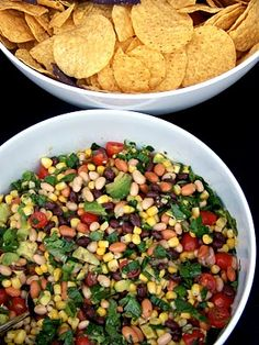 Let's Eat!: Cowboy Caviar I will try without cilantro since it is not a favorite of mine.