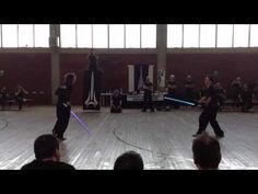 """An excerpt from the """"hors concours"""" fights after the Italian National Tournament of Lightsaber Combat. The athletes show a mix of Shii-Cho, Makashi, Sore. Pilates, Fitbit, Surf, Homeschool High School, Athlete, Exercise, Songs, Lightsaber, Fitness"""