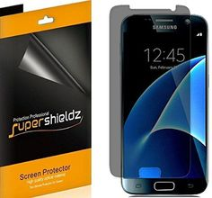 [3 Pack] SUPERSHIELDZ- Privacy Anti-Spy Screen Protector Shield For Samsung Galaxy S7 - Lifetime Replacements Warranty - Retail Packaging *** Read more reviews of the product by visiting the link on the image.