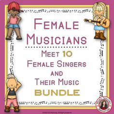 All you need to create your music listening lesson plans   Music: Male Singers: Ten Contemporary Female Musicians Foldables BUNDLE     music listening     music lessons     #musiceducation
