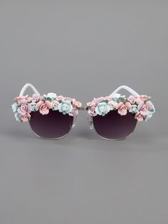 KERIN ROSE  'FLOWER FRENZY' SUNGLASSES  farfetch from RA  available from farfetch.com •ƒƒ•