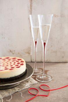 Cheesecake al cioccolato bianco e cuori di lampone | Ackyart