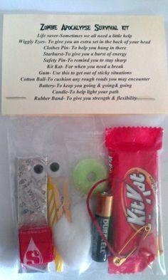 Zombie Apocalypse Survival Kit 11 Items Inside Novelty Gift | eBay