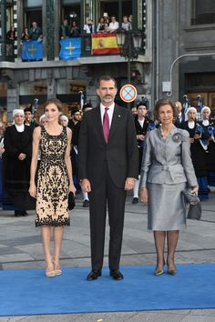 King Felipe , Queen Letizia and Queen Sofia attend the Princess of Asturias Award 2016 ceremony at the Campoamor Theater in Oviedo 21 Oct 2016