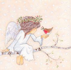Leading Illustration & Publishing Agency based in London, New York & Marbella. Angel Illustration, Christmas Illustration, Angel Pictures, Cute Pictures, Christmas Angels, Christmas Art, Angel Drawing, Angel Cards, Fairy Art