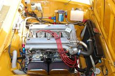 1969 Alfa Romeo GTV Vintage Race Car For Sale Engine