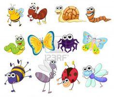 Illustration einer Gruppe von Bugs Stockfoto