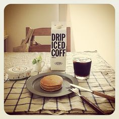 @mih0n おはようパンケーキ* 今日はおいしいアイスコーヒーと♡ 8.28 #Padgram