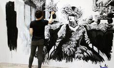 Live painting at Design Festa, Tokyo, Japan