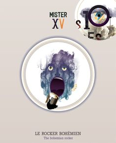 the Bohemian Rocker Les 10 VISAGES de MISTER X  by Maria Vittoria Benatti, via Behance