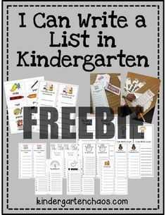 Read this post for some fun writing activities to add to your kindergarten writing station. Ideas include writing lists, using picture cards. Writing Lists, Work On Writing, Cool Writing, Writing Lessons, Writing Workshop, Teaching Writing, Writing Ideas, Writing Games, Primary Teaching