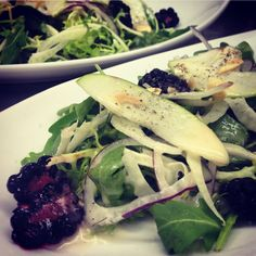 Blackberry Apple Salad with Fennel, Red Onion, Garden Greens, with White Balsamic vinaigrette by Chef Marissa Gerlach at Vista Valley Country Club