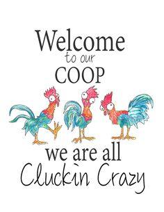 Chicken Coop Decor, Chicken Coop Signs, Chicken Humor, Chicken Art, Chicken Quotes, Chicken Coops, Chicken Items, Funny Chicken, Chicken Life