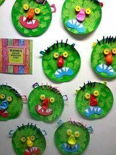 02 - next picture Bricolage Halloween, Manualidades Halloween, Theme Halloween, Halloween Crafts For Kids, Fall Halloween, Big Green Monster, Monster Crafts, Green Monsters, Kindergarten Art