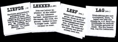 Afrikaanse Definisies of Lekker, Lag, Leef and Liefde Port Elizabeth, Handmade Decorations, Decorative Items, Screen Printing, Cards Against Humanity, Personalized Items, How To Make, Prints, Screen Printing Press
