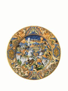 Grande Piatto, Castel Durante, Bottega di Ludovico e Angelo Picchi, 1550-1560 ca.