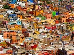 Colonial Guanajuato, Mexico; Look at those colors, makes me smile really. http://my-best-photo-selection.blogspot.com/2010/10/coloring-life-in-mexico.html