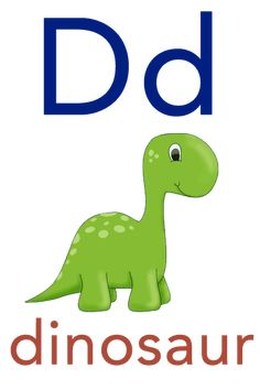 Baby ABC Flashcard - D for dinosaur Flashcards For Toddlers, Preschool Worksheets, Free Preschool, Toddler Learning Activities, Kids Learning, Preschool Activities, Picture Story For Kids, Alphabet Wall Cards, Teaching Child To Read