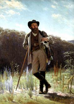 Kramskoy POrtrait of artist Shishkin - 1873 - Портрет художника Шишкина. 1873г.