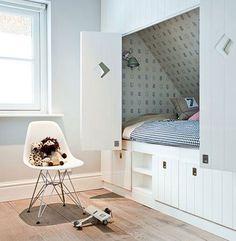 Trendy Bedroom Attic Kids Built In Bed Bedroom Loft, Home Bedroom, Girls Bedroom, Built In Bed, Hidden Bed, Trendy Bedroom, New Room, Living Room Interior, Interiores Design