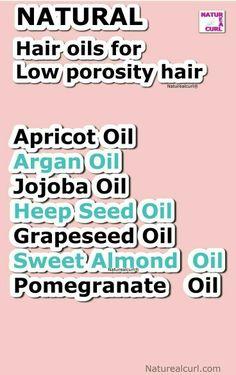 Low porosity hair oils