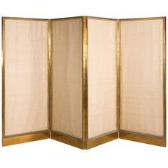 French Four-Fold Screen | From a unique collection of antique and modern screens at https://www.1stdibs.com/furniture/more-furniture-collectibles/screens/