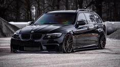 BMW E91 335i Touring slammed.