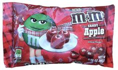 Candy Apple M&M's under Ridiculous Mashup Foods of the Week. I'll have to taste before I make fun of it.