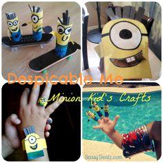 #DIY despicable me minion finger puppets crafts ideas