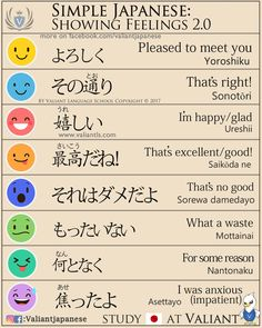 "valiantschool: "" Simple Japanese: Showing Emotions More Japanese lesson on www.instagram.com/valiantjapanese """