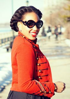 Red Military Jacket via Closet Confections http://closetconfections.com/2015/03/military-jacket/