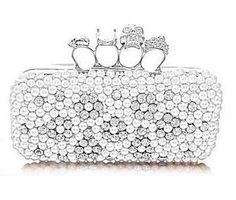 Oasap Sweet shiny pearls clutch bag