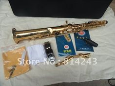 (247.00$)  Buy here - http://aingq.worlditems.win/all/product.php?id=651618672 - Brand Xinghai B Saxophone Soprano Straight Surface Gld Lacquer Brass Soprano Saxophone SS-100  Drop B Sax Musical Instrument