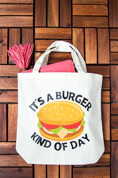 DIY Tote Bag: It's a Burger Kind of Day