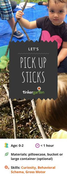 Combine collecting with one of the best toys of all time, sticks! Do it well, and you inspire stretches of engaged play and support your children as they develop language, persistence, motor skills and a love of good old sticks. Then, have a blast watching what they do with all those sticks! Click through to learn how.