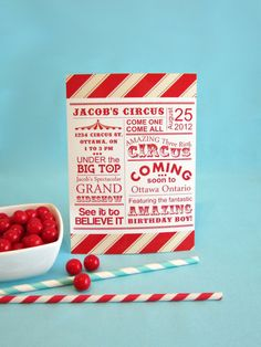 Spectacular Vintage Circus Printable Invitation  by yummypaper, $15.00