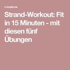 Strand-Workout: Fit in 15 Minuten - mit diesen fünf Übungen