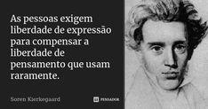 Soren Kierkegaard, Punisher, Carpe Diem, Wisdom Quotes, Study, Freedom Of Speech, Poems, Author, The Thinker