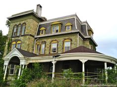 The Biddle Mansion, before pictures.  A totally falling down Second-empire Victorian home... now being restored.