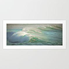 Ocean Wave Art Print by CM Moore  - $15.00