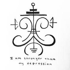"""power-of-three: """" """"I am stronger than my depression"""" sigil for anonymous Sigil requests are open ! -Mod Pyre """" symbols witchcraft Witchcraft For The Weather Witch Witch Symbols, Rune Symbols, Magic Symbols, Symbols And Meanings, Viking Symbols, Spiritual Symbols, Egyptian Symbols, Viking Runes, Ancient Symbols"""