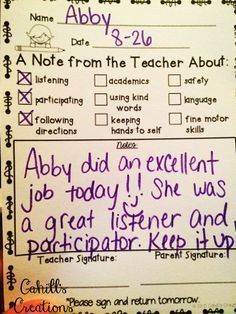 Amy was tired of spending all of her energy on the negative behaviors in her classroom. That's when she decided to change her own behaviors. New approach for next school year Communication Avec Les Parents, Parent Teacher Communication, Parent Notes, Teacher Organization, Teacher Tools, Teacher Resources, Teacher Binder, Organized Teacher, Teacher Conferences