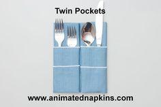 Animation: Twin Pockets Napkin Folding (Easy Store)