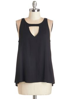 Friday Night Fabulous Top. Welcome the long-awaited weekend in this black tank top! #black #modcloth