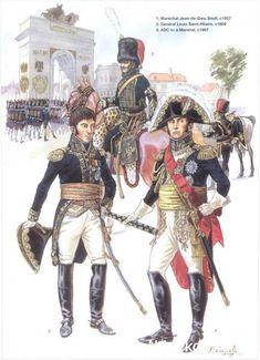 Napoleon's Commanders (2) 1809-1815 1_Maréchal Jean de Dieu Soult 1807 2_Général Louis Saint-Hilaire 1809 3_Aide de camp d'un maréchal 1807